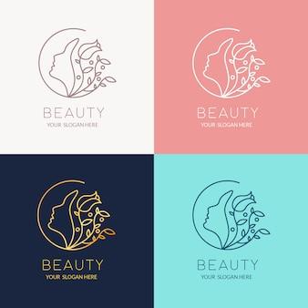 Schoonheid logo ontwerpsjabloon