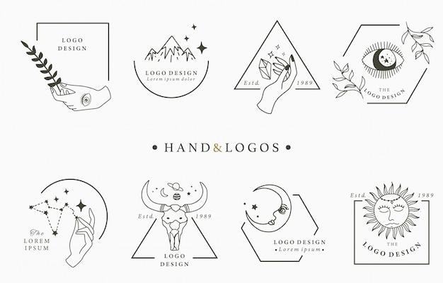 Schoonheid occulte logo collectie