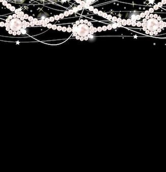 Schoonheid parel achtergrond vectorillustratie