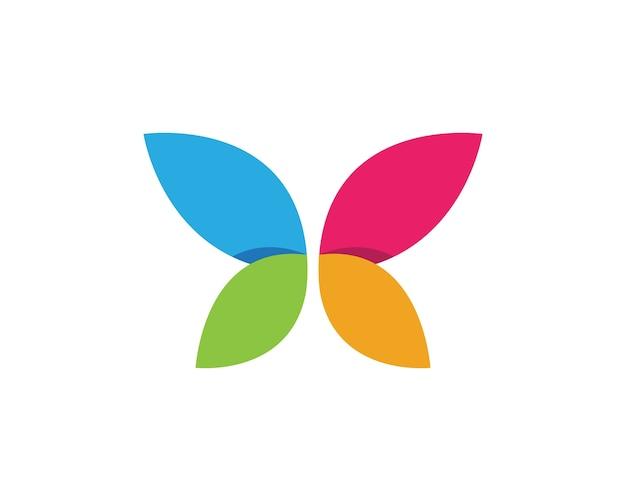 Schoonheid vlinder logo sjabloon