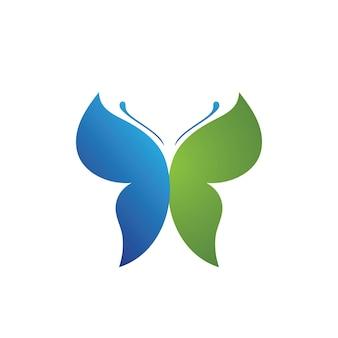 Schoonheid vlinder vector pictogram ontwerp