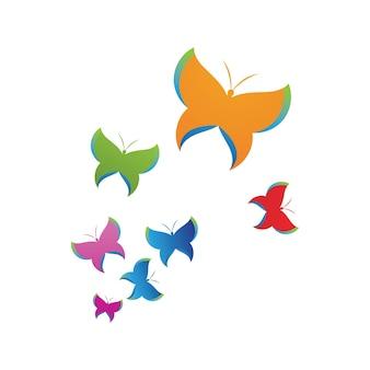 Schoonheid vlinder vector pictogram ontwerp Premium Vector
