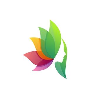 Schoonheid vrouwen modern logo
