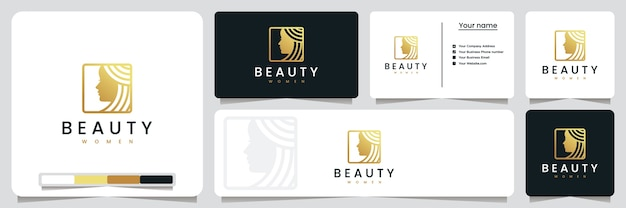 Schoonheid vrouwen, salons en spa, inspiratie voor logo-ontwerp