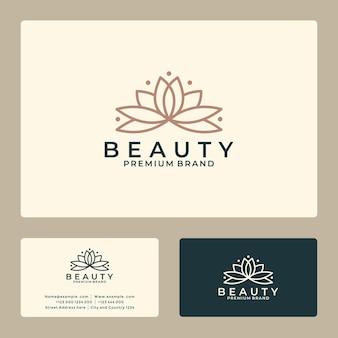 Schoonheidsbloem lotus logo-ontwerp voor uw bedrijf, salon, spa, hotel enz