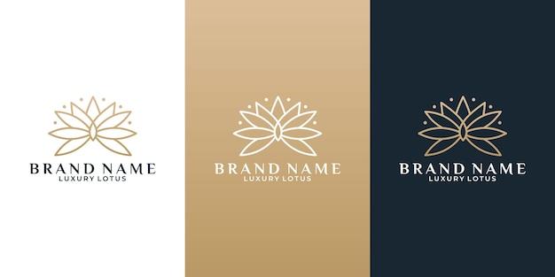 Schoonheidsbloem lotus logo-ontwerpidee voor uw zakelijke salon, cosmetisch hotel enz