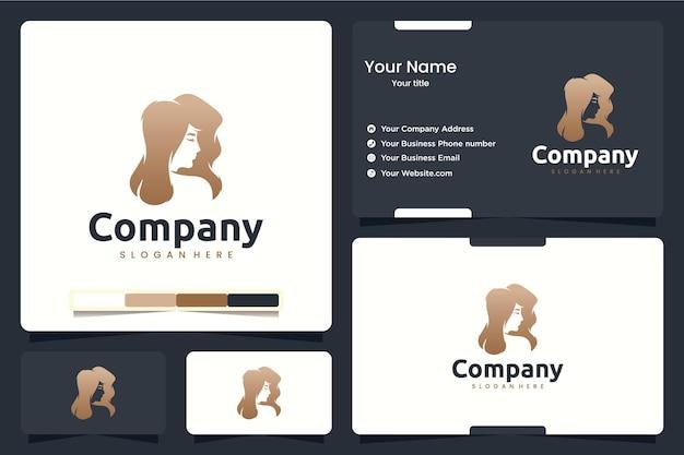 Schoonheidshaar, logo-ontwerpinspiratie