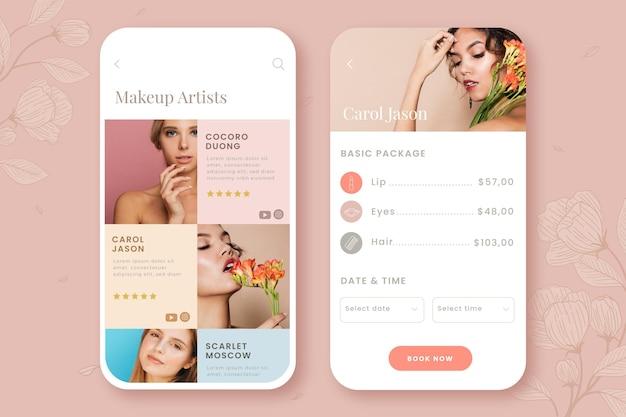 Schoonheidssalon boeking app-interface
