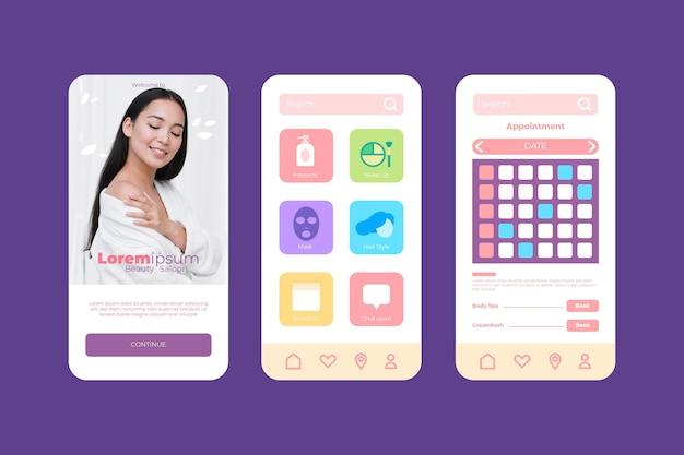 Schoonheidssalon boeking app met foto