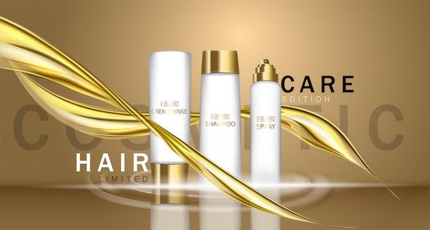 Schoonheidssalon, cosmetische branding. make-up, make-over, cosmetica, modevormgeving. typografische trend ontwerp vectorillustratie