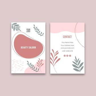 Schoonheidssalon dubbelzijdig visitekaartje v