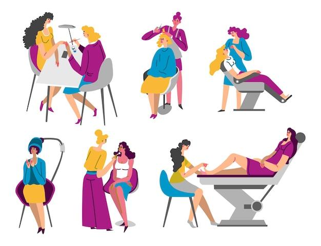 Schoonheidssalon en spa-procedures voor vrouwen vector