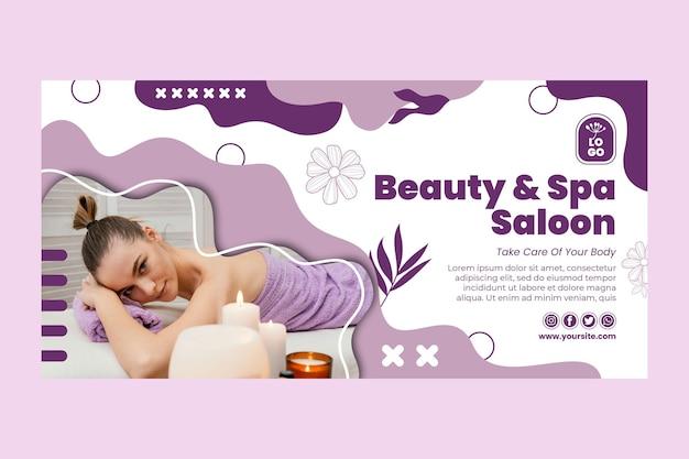 Schoonheidssalon en spa-sjabloon voor spandoek