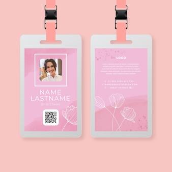 Schoonheidssalon id-kaartsjabloon