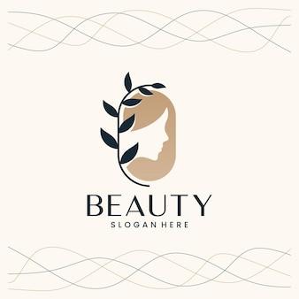 Schoonheidssalon, natuurlijk, inspiratie voor logo-ontwerp