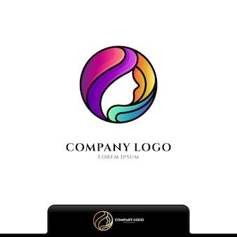 Schoonheidsverzorging kleurrijke logo geïsoleerd op wit