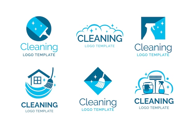 Schoonmaak logo-collectie