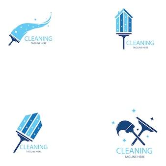 Schoonmaak logo en symbool illustratie vector sjabloon
