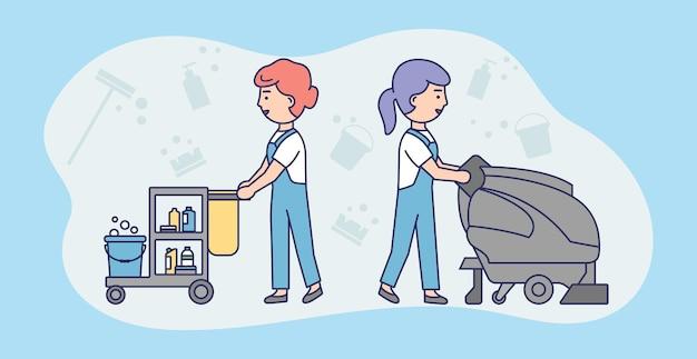 Schoonmaak service concept illustratie