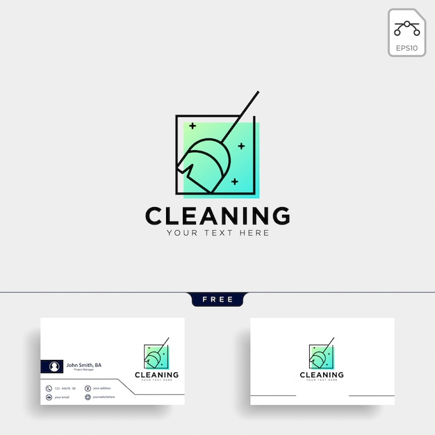 Schoonmaak service logo sjabloon vector illustratie pictogram element