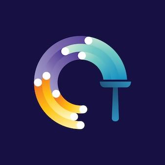 Schoonmaak service logo