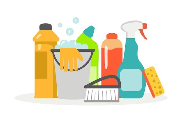 Schoonmaakbenodigdheden service schoonmaakgereedschap sanitaire chemische producten voor wasvloer keuken