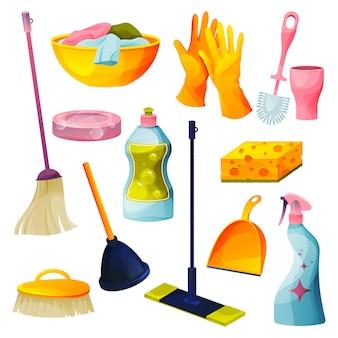 Schoonmaakmiddelen voor het huis en schoonmaakmiddelen voor het huishouden