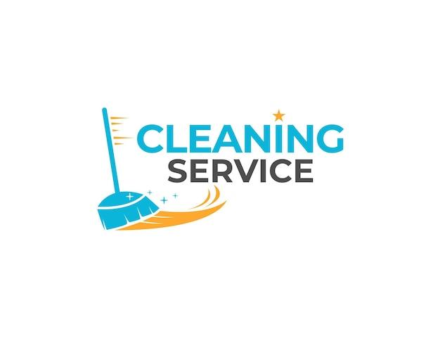 Schoonmaakservice werk logo ontwerp