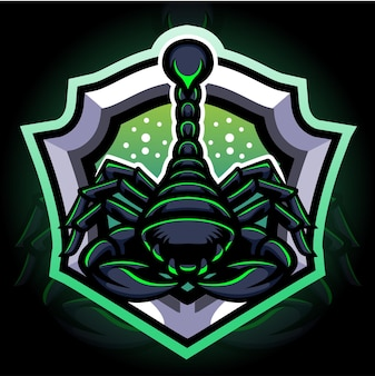 Schorpioen mascotte. esport logo ontwerp