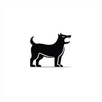 Schors hond logo eenvoudige moderne cartoon