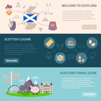 Schotland banners set