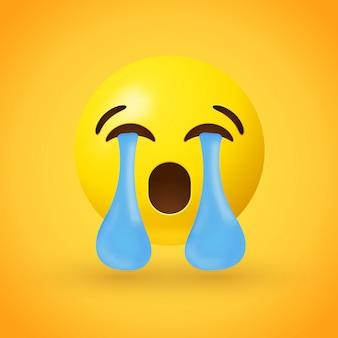 Schreeuwende luide emojiillustratie