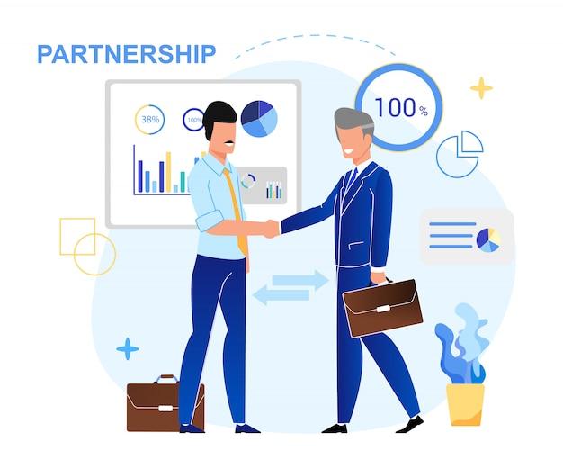Schriftelijke partnerschap belettering.