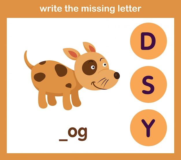 Schrijf de missende letter