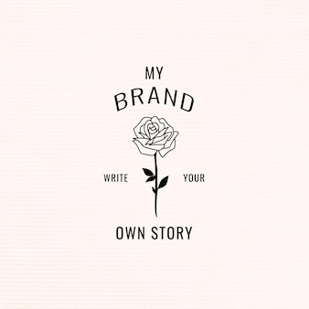 Schrijf je eigen story branding-sjabloon