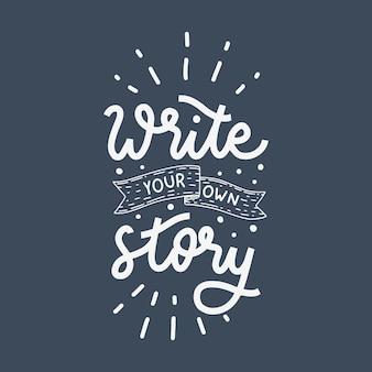 Schrijf je eigen verhaal hand belettering offerte