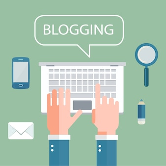 Schrijf uw verhaalbanner voor journalistiek en bloggen
