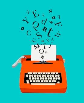 Schrijfmachine kleurrijke pictogram