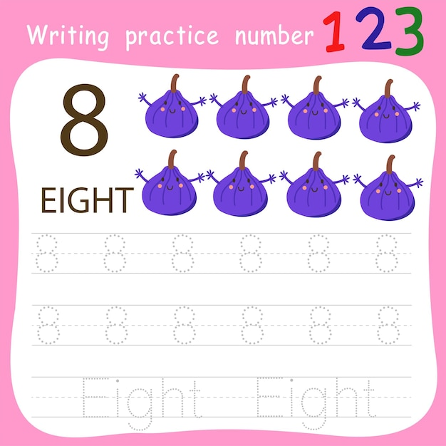 Schrijfoefening nummer acht