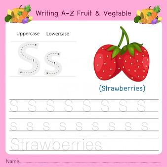 Schrijven az fruit & vegetables s