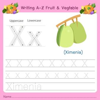 Schrijven az fruit & vegetables x