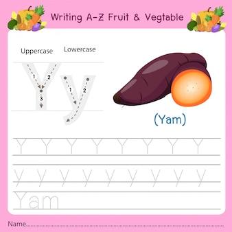 Schrijven az fruit & vegetables y