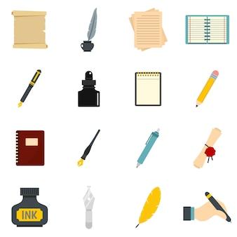 Schrijven icons set