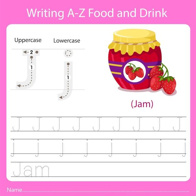 Schrijven van eten en drinken j