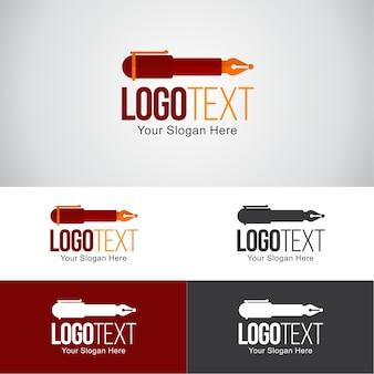 Schrijver logo ontwerpsjabloon