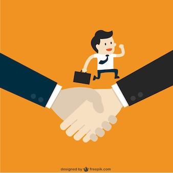 Schudden handen in het bedrijfsleven