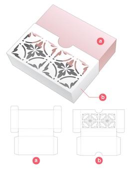 Schuifdoos met gestencild patroon op omslag gestanst sjabloon