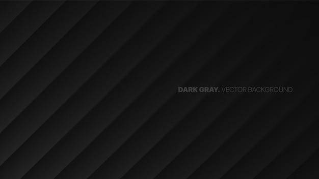 Schuine lijnen 3d wazig effect donkergrijs minimalistische abstracte achtergrond