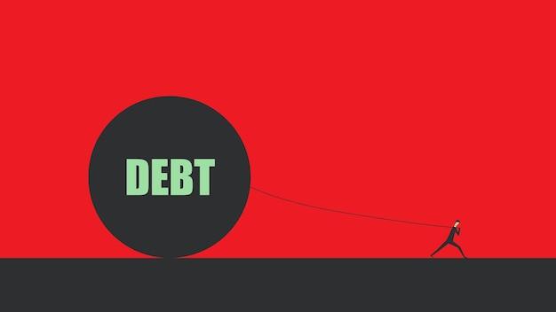 Schuld financiële vrijheid bedrijfsconcept