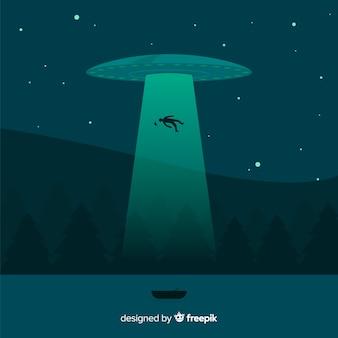 Sci-fi abductie achtergrond